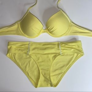 AERIE Yellow Matching Bikini Set!